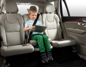 The all-new XC90 can be equipped with an integrated booster cushion for a child on the centre position in the rear seat.