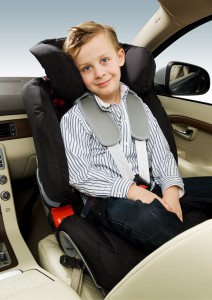 9. Rearward facing child seat with child
