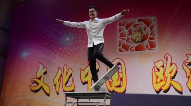 Kinesisk Akrobatik spelare Wang Qiang i Stockholm