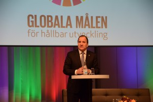 Swedish Prime Minister Stefan Löfven made the opening speech at Agenda 2030 on Jan. 18, 2016. Photo by Xuefei Chen Axelsson