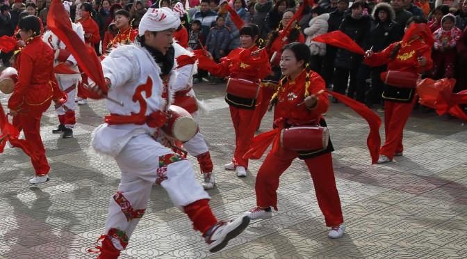 图片新闻:张家口市民闹新春