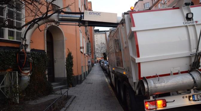 斯德哥尔摩市中心的垃圾收集系统