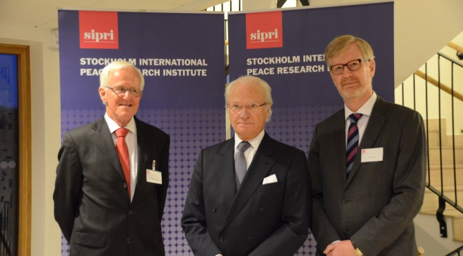 瑞典国王出席斯德哥尔摩国际和平研究所50周年庆典