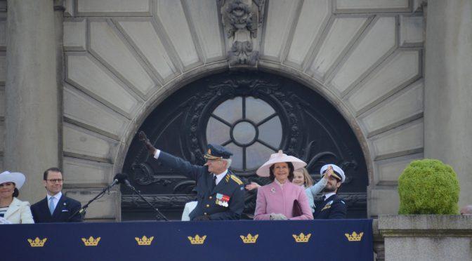 斯德哥尔摩隆重庆祝瑞典国王卡尔十六世.古斯塔夫70大寿