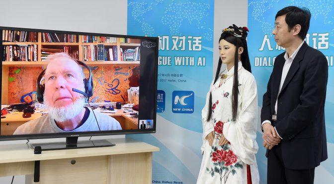 图片新闻:中国智能机器人对话美国科学家