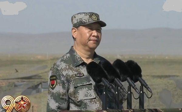 中国在内蒙朱日和举行八一大阅兵