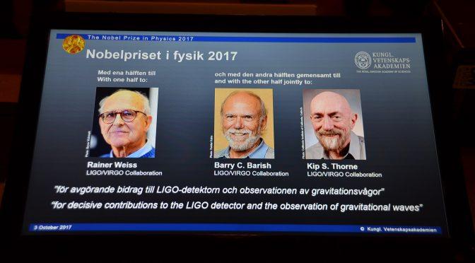 视频:三位美国科学家因为观察到引力波获诺贝尔物理学奖