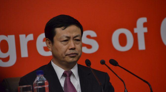 19大视频3:中国电信集团公司董事长杨杰说中国人均一部手机