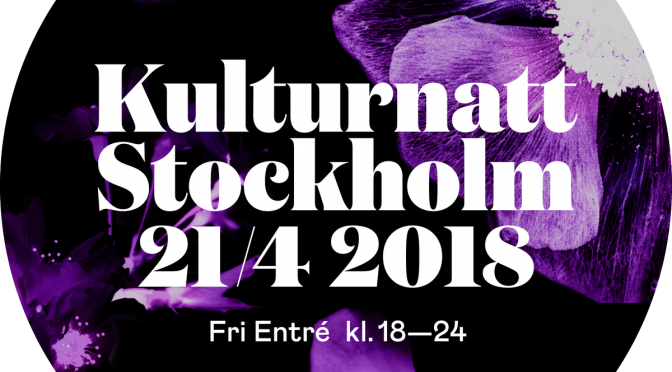 Affisch: Stockholm Kulturnatt och Nordic Spring International Peace and Culture Festival