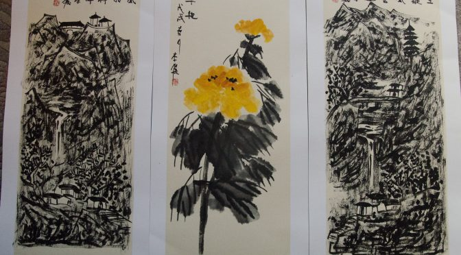 Chinese Artist Li Li's works exhibited during Stockholm Kulturnatt