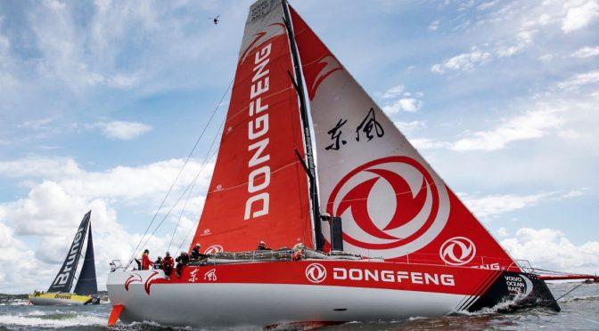 祝贺中国东风队获得沃尔沃环球帆船赛冠军
