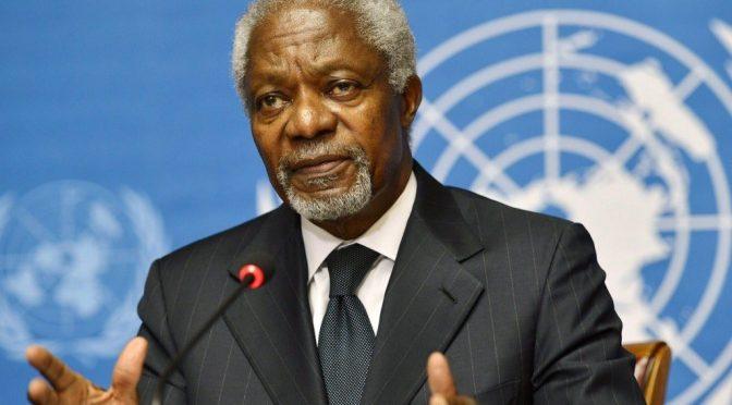 今日头条:沉痛悼念前联合国秘书长科菲.安南