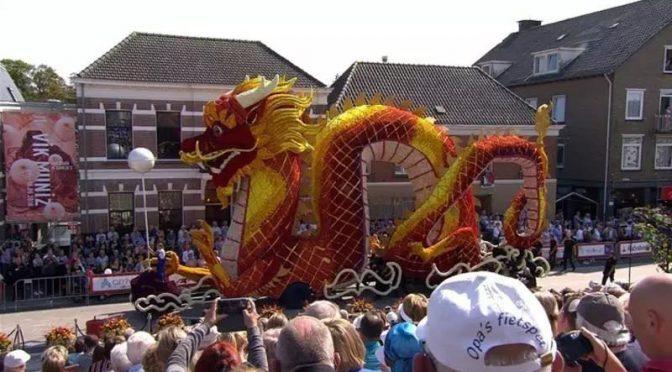 今日头条:中国龙花车在荷兰大花车巡游活动中备受关注