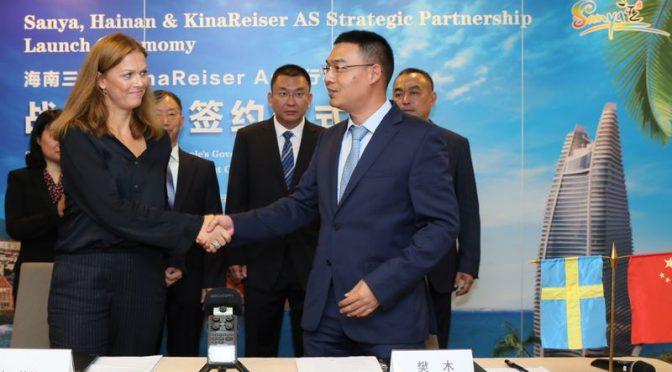 今日头条:中挪三亚-奥斯陆航线旅游包机合作谅解备忘录在斯京签署