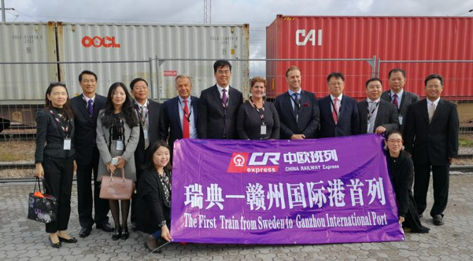 China-Europe Freight Train links Sweden — a good model of BRI
