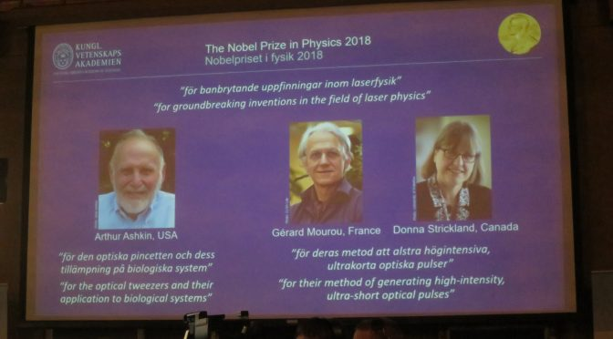 American, Canadian scientists win 2018 Nobel Prize in Physics