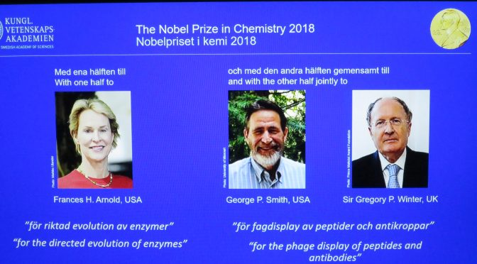 Video:Arnold, Smith and Winter win 2018 Nobel Prize in Chemistry