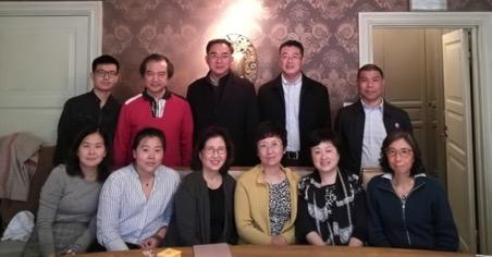 上海政协代表团与瑞典上海联谊会举行座谈会