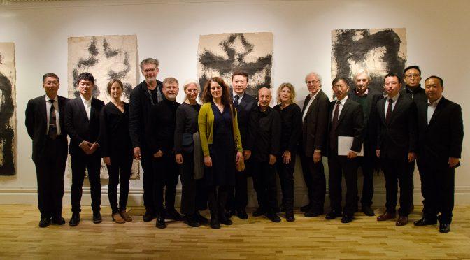 """今日头条:中国""""青年艺术+优秀作品海外巡展""""以及""""极光""""--中国华东师范大学美术学院与瑞典皇家美术学院教师当代作品展在斯德哥尔摩中国文化中心开幕"""