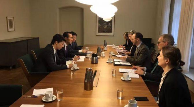 桂从友大使会见瑞典政府基础设施大臣耶纳路特