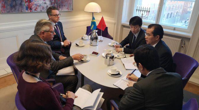 今日头条:桂从友大使会见瑞典新一届议会外委会主席