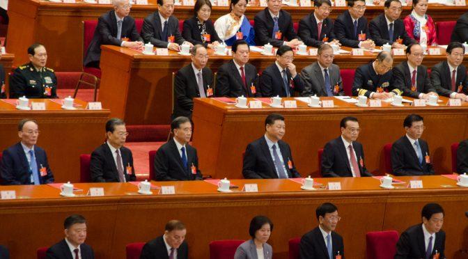 图片新闻:中国两会的最后投票