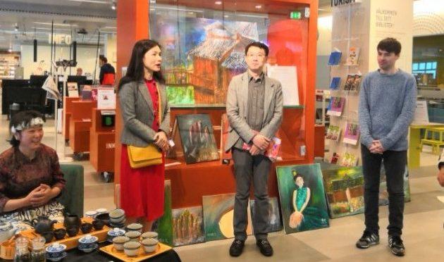 第六届两湖同乡会年会暨长琳油画作品展开幕式在Nacka Forum举办