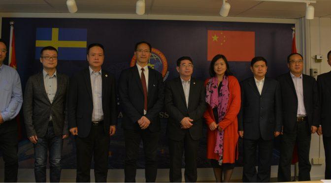 海南省副省长王路一行考察访问瑞典华商会