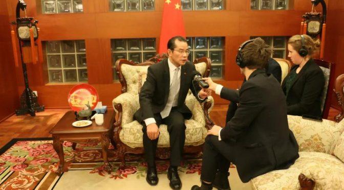 """桂从友大使就中瑞媒体交流接受瑞典""""媒体""""栏目专访"""