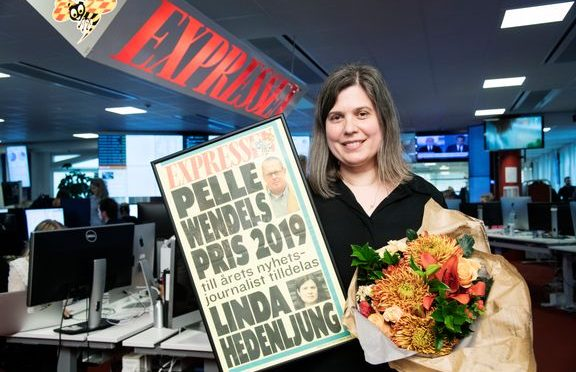 JOURNALISTEN LINDA HEDENLJUNG TILLDELAS ÅRETS PER WENDEL-PRIS