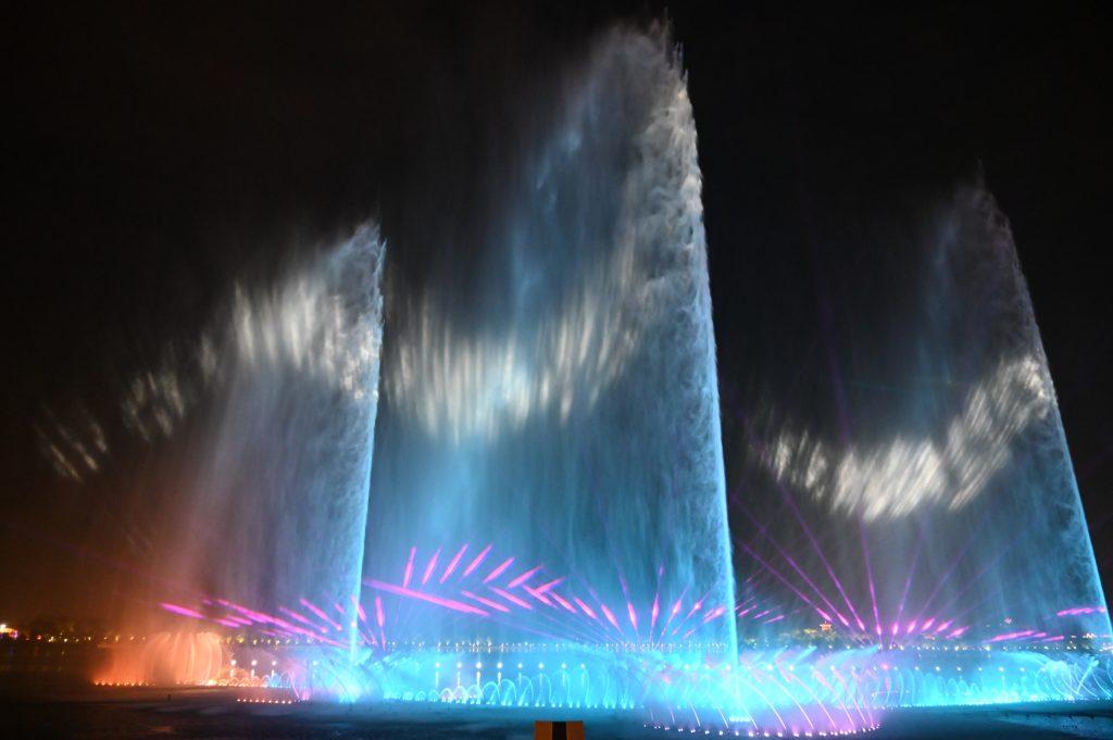 唐山南湖水舞秀
