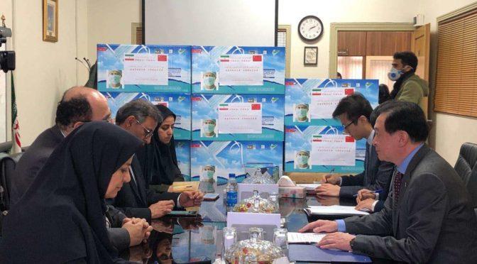 中國大使館馳援伊朗 抗疫物資上寫了這句