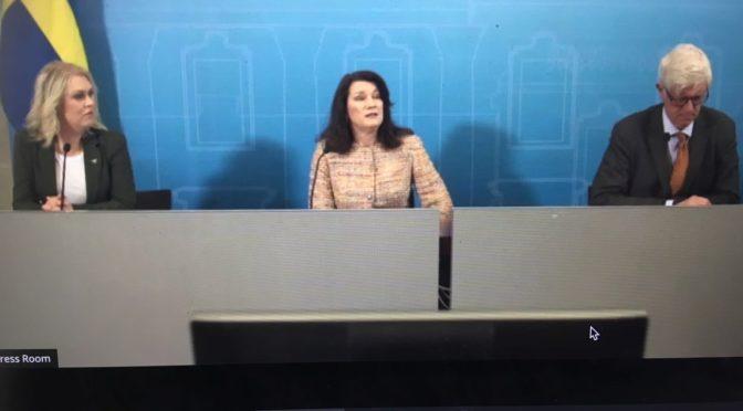今日头条:瑞典外交大臣林德等介绍瑞典抗疫战略继续严格行到5月中旬
