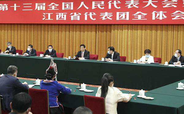 Chinese leaders attend deliberations at annual legislative session