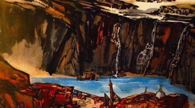 北欧绿色邮报网名家欣赏系列一:中国著名画家陆天宁描摹的极地风光