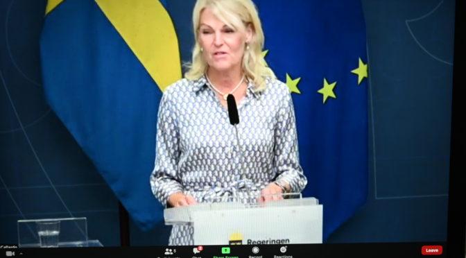 瑞典对外贸易和北欧事务大臣哈尔贝说中国是瑞典的重要贸易伙伴