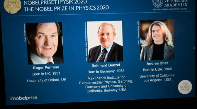 今日头条:英德美科学家因宇宙黑洞获2020年诺贝尔物理学奖