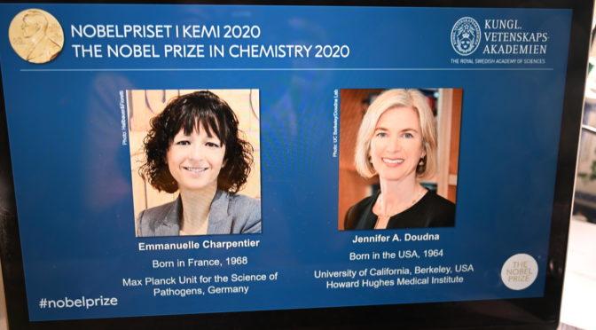 """今日头条:发现""""基因剪刀""""使两位六十后女科学家获得2020诺贝尔化学奖"""