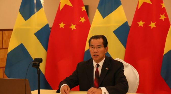 桂从友大使在第四届中瑞智慧城市合作大会线上致辞