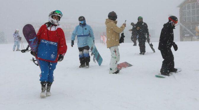 2022年北京冬奥会场地崇礼的雪景图片