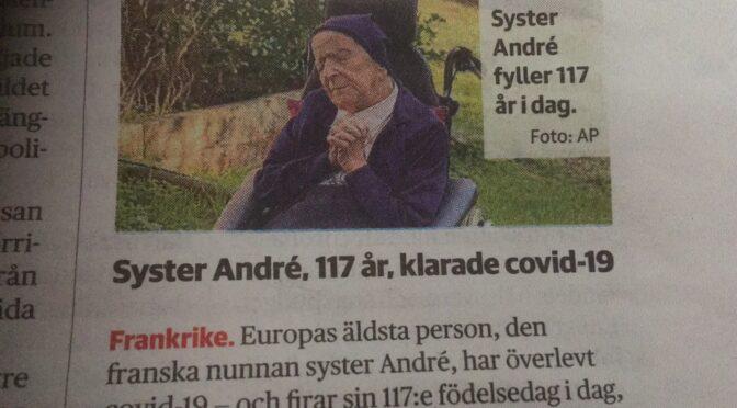 世界最老的法国修女117岁挺过新冠肺炎因为她不怕死