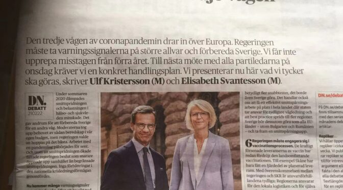 瑞典温和党党首提出7大建议应对第三波疫情