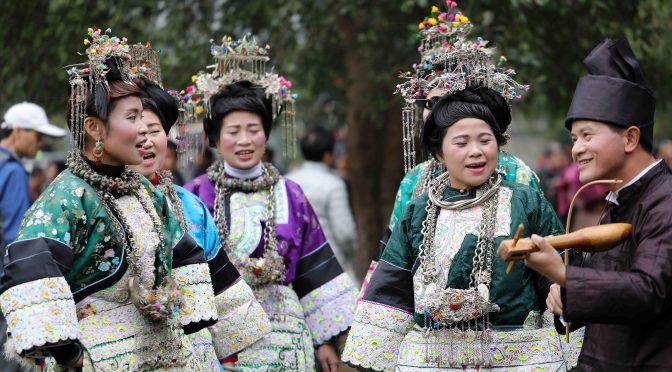 图片新闻:贵州侗族萨马节服装秀