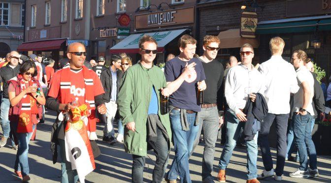 Manchester United Fans in Stockholm