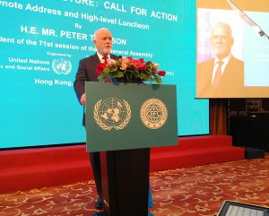 Keynote Address by H.E. Mr. Peter Thomson, President of the 71st Session of the General Assembly at High Level Luncheon on SDG 14 – Our ocean, our future: call for action