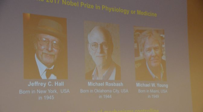 头条要闻:三位美国科学家霍尔,罗斯巴什和扬一起获得诺贝尔医学奖