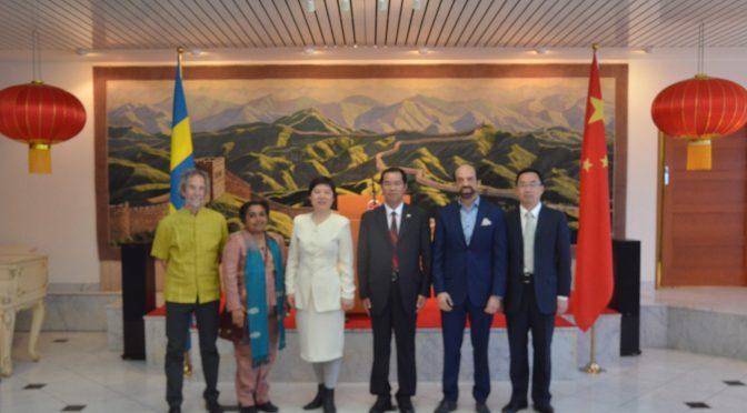 今日头条:瑞典专业外国记者协会记者访问中国驻瑞典大使馆