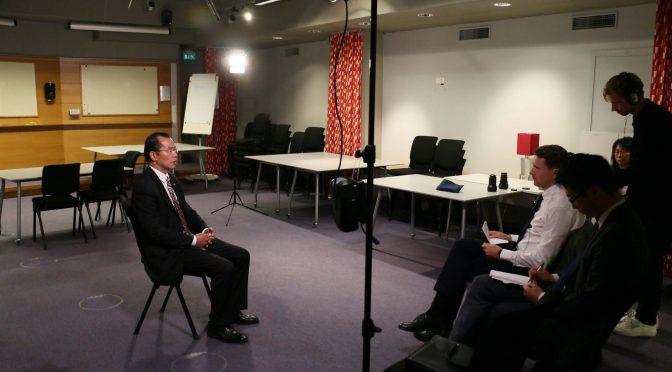 """今日头条:桂从友大使向瑞典电视台阐明中方坚决反对""""港独""""及其暴乱的严正立场"""