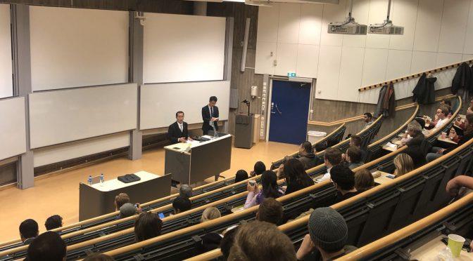 桂从友大使同瑞典林雪平大学学生交流