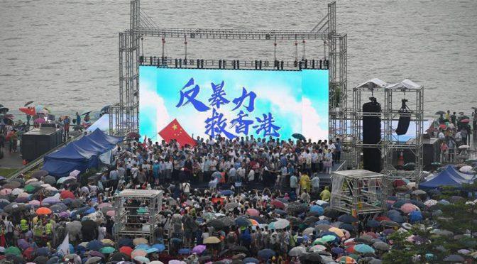 Foto(3) Hong Kongs Folk Demonstrerar mot Våld